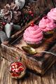 Homemade christmas cupcakes