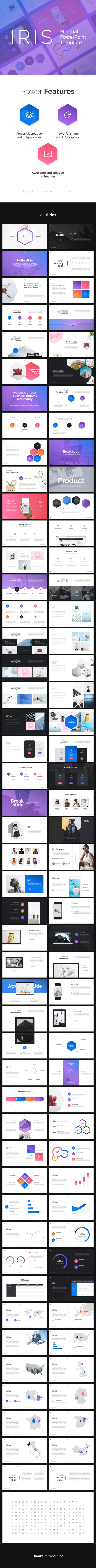 IRIS Minimal PowerPoint Presentation - Business PowerPoint Templates
