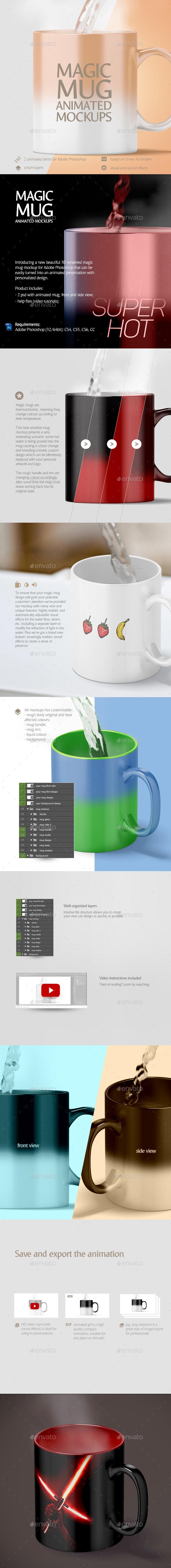 Magic Mug Animated Mockup - Stationery Print