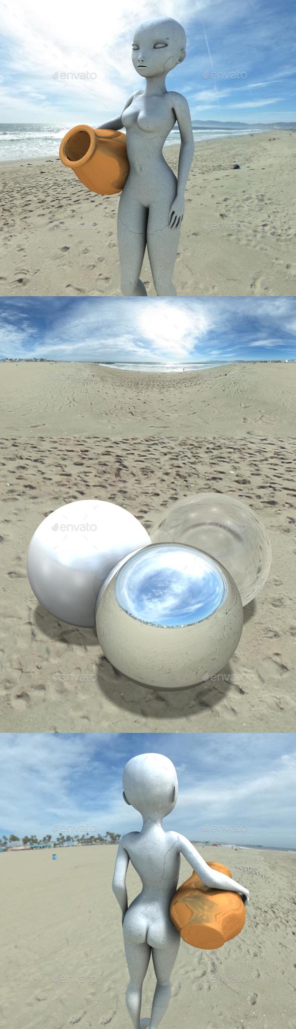 Blue Cloudy Beach HDRI - 3DOcean Item for Sale