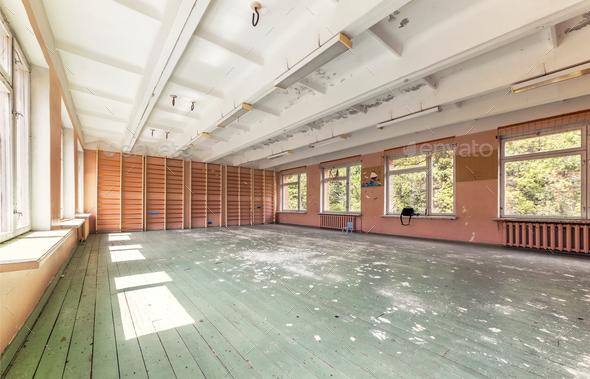 Abandoned empty gym stock photo by saoirse photodune