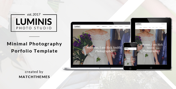 Luminis - Minimal Photography Portfolio Template