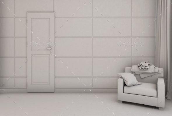 3d Render of a Bedroom in Modern Style - Miscellaneous 3D Renders