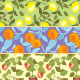 Seamless Fruits pattern in Vintage style - GraphicRiver Item for Sale