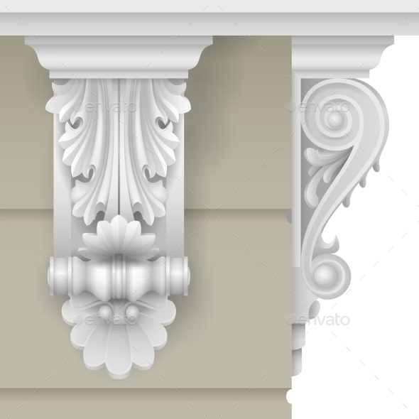 Classic Facade Bracket - Buildings Objects