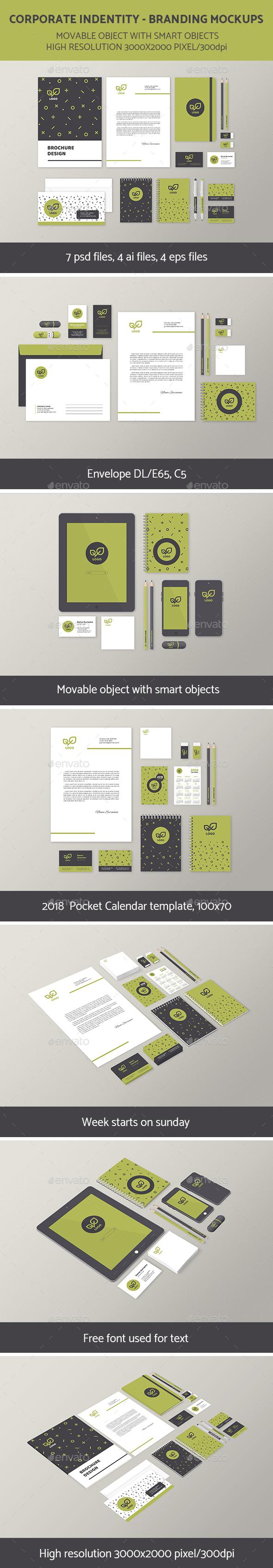 Branding Identity Mock-Up Set 4 - Stationery Print