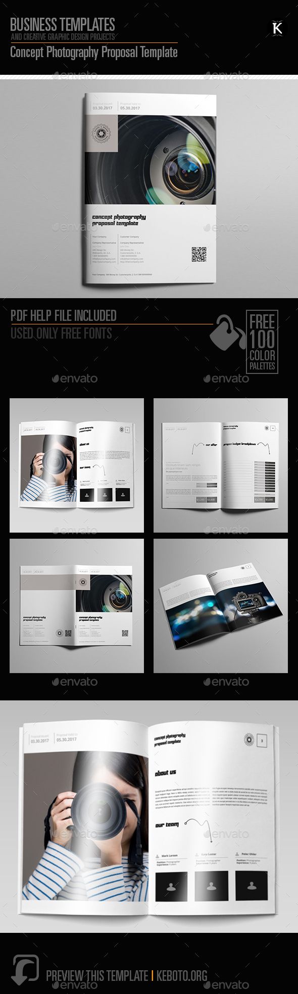 Concept Photography Proposal Template - Proposals & Invoices Stationery
