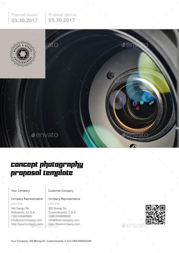 Concept Photography Proposal Template by Keboto – Photography Proposal Template
