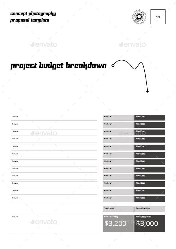 Concept Photography Proposal Template By Keboto Graphicriver