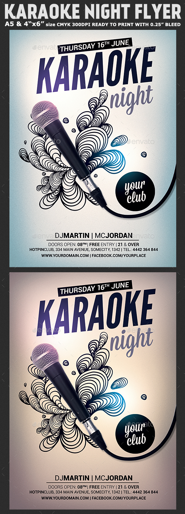 Karaoke Night Flyer Template - Clubs & Parties Events