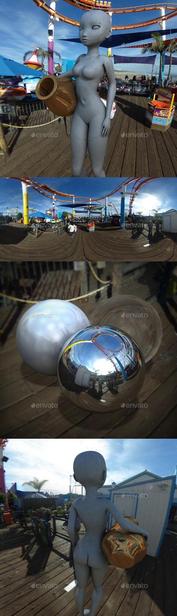 Santa Monica Pier Rides HDRI - 3DOcean Item for Sale