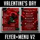 Valentines Day Flyer + Menu Bundle V2 - GraphicRiver Item for Sale
