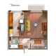 Vector Modern Studio Apartment Top View - GraphicRiver Item for Sale