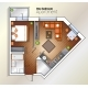 Vector Modern One Bedroom Apartment Top View - GraphicRiver Item for Sale
