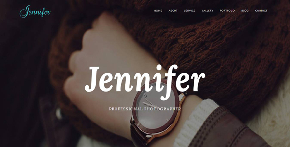 Jennifer – Responsive Portfolio, Photography, Agency Template