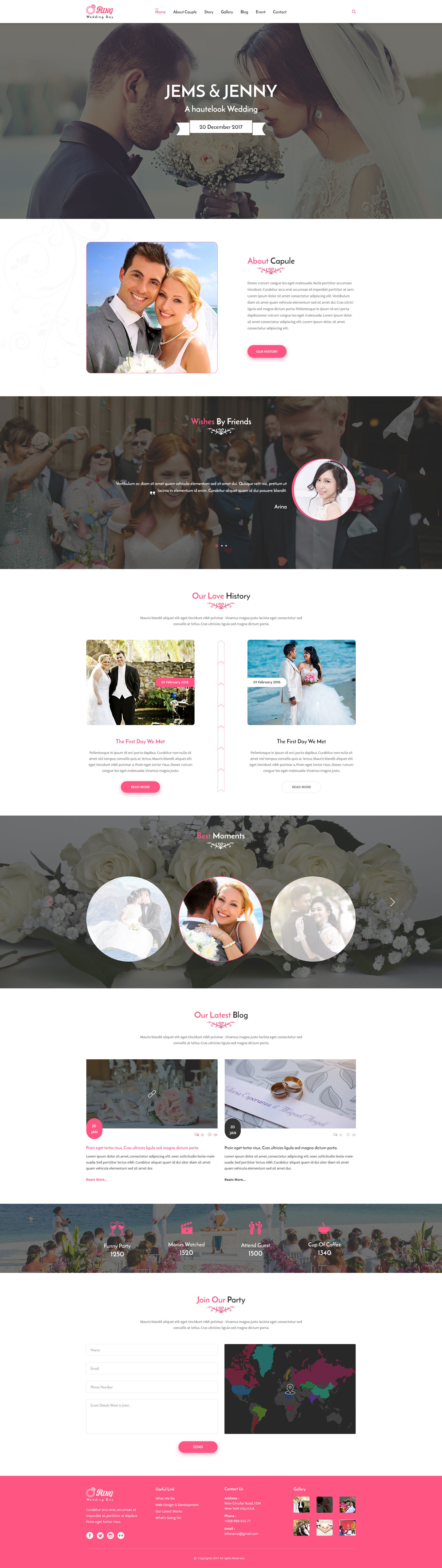 Ring Wedding Photography PSD Template by Dualtheme | ThemeForest