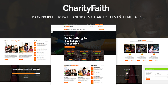 CharityFaith – Nonprofit, Crowdfunding, Education & Charity HTML5 Template