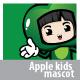 Apple Girl Mascot