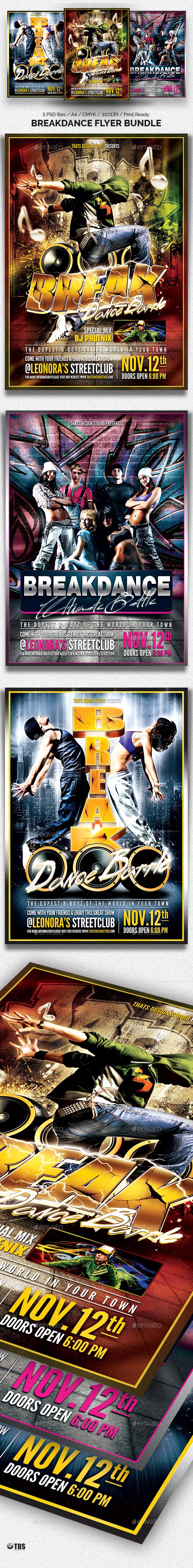 Break Dance Battle Flyer Bundle - Events Flyers