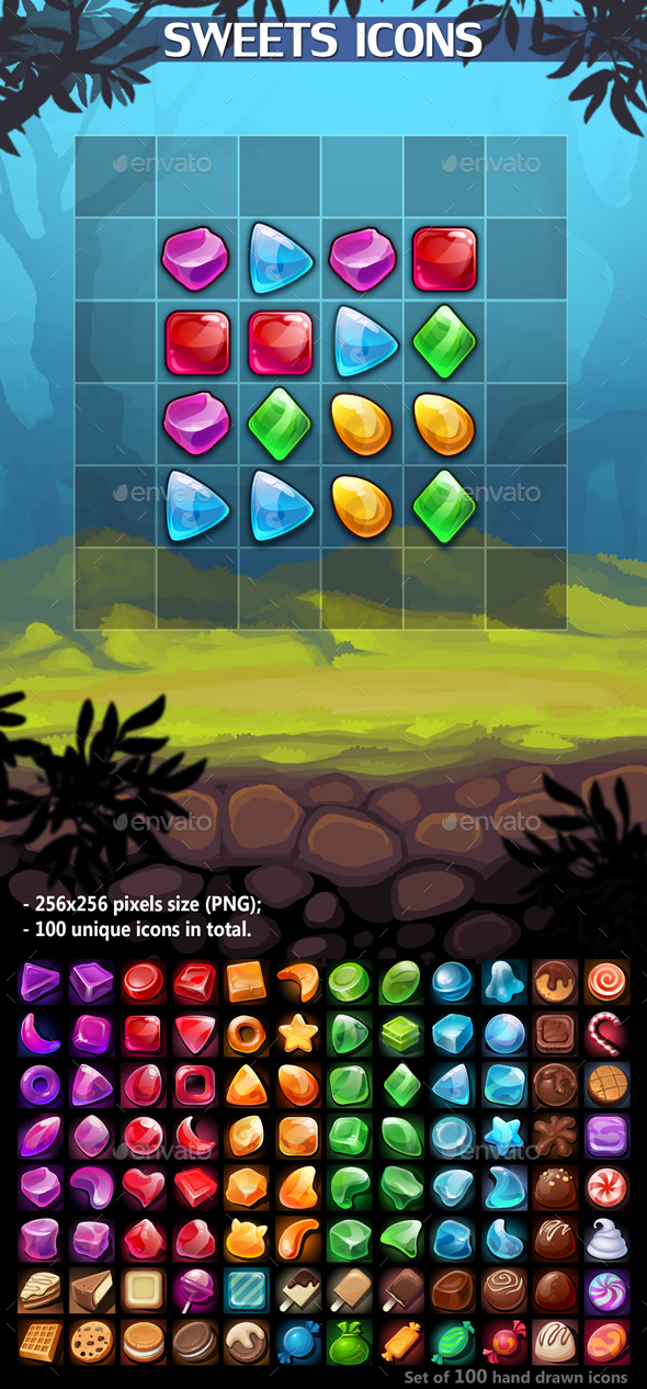 Sweets Icons - Miscellaneous Game Assets