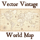 Vintage Vector World Map - GraphicRiver Item for Sale