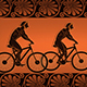 Ancient Greeks Ride Bicycles Crowd Characters Caricature