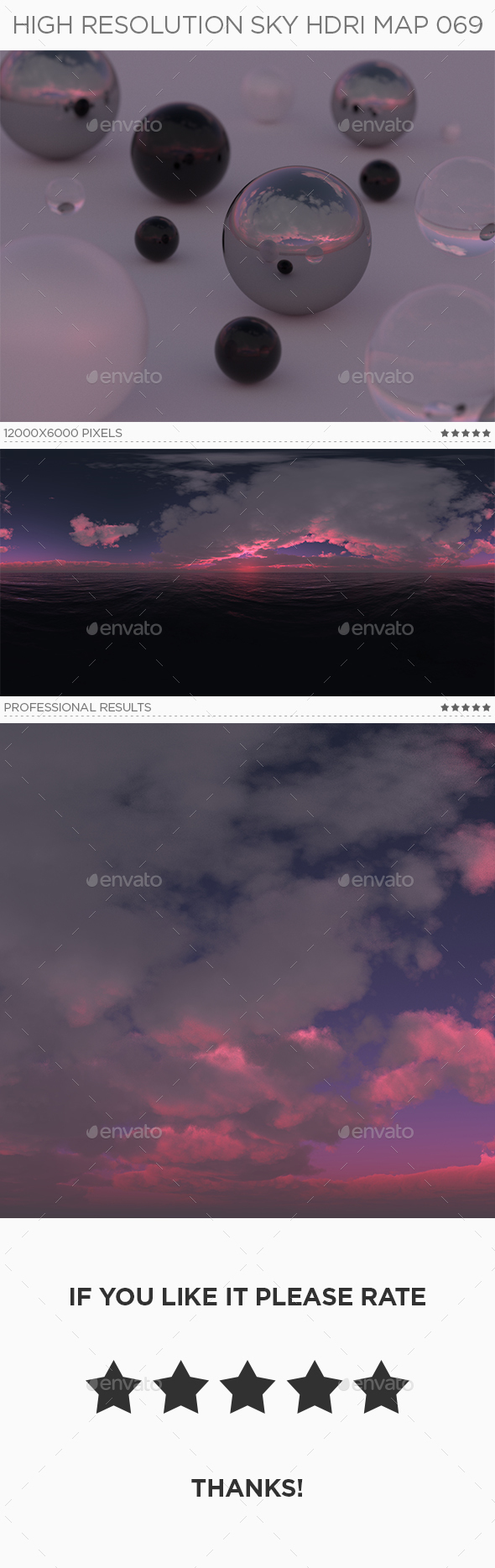 High Resolution Sky HDRi Map 069 - 3DOcean Item for Sale