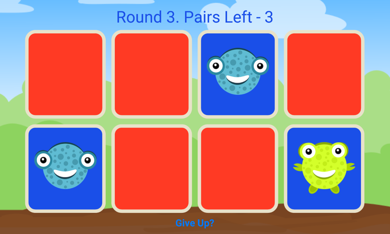 Uncategorized Memory Pairs basic pairs memory game for kids by matt myappincome codecanyon 01levelselectscreenshot png