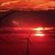 A Lot of Wind Mills Against Red Sunset - VideoHive Item for Sale