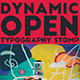 Dynamic Stomp Typography Open - VideoHive Item for Sale