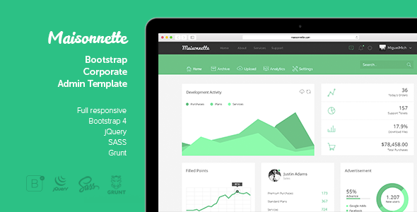 Maisonnette responsive admin template by foxypixel for Bigcommerce template variables