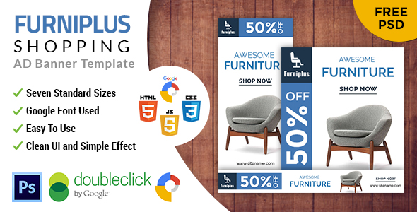 Furniplus | Furniture HTML 5 Animated Google Banner - CodeCanyon Item for Sale