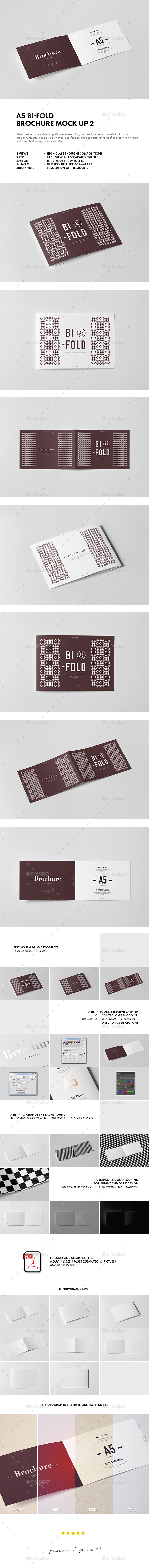 Bi-Fold A5 Horizontal Brochure Mock-up 2 - Brochures Print
