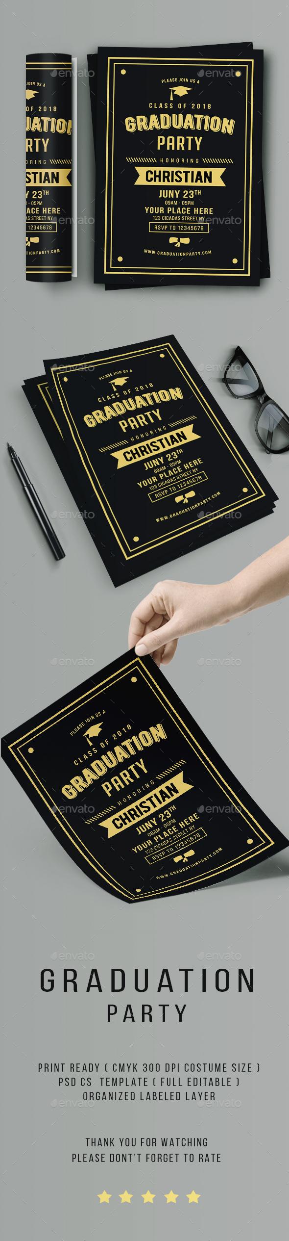Vintage Graduation Invitation - Invitations Cards & Invites
