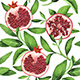 Watercolor Pomegranate Pattern - GraphicRiver Item for Sale