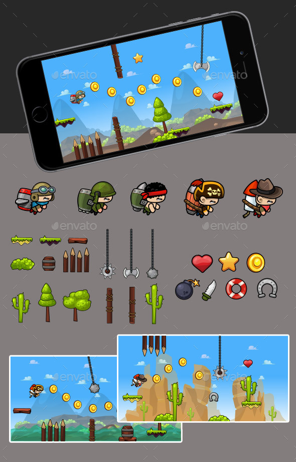 Jetpack Game - Game Kits Game Assets
