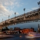Evening View of Bridge on Moscow River - VideoHive Item for Sale