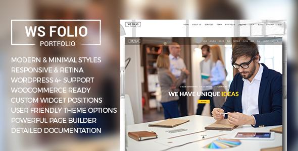 WS Folio - Responsive Portfolio WordPress Theme - Portfolio Creative