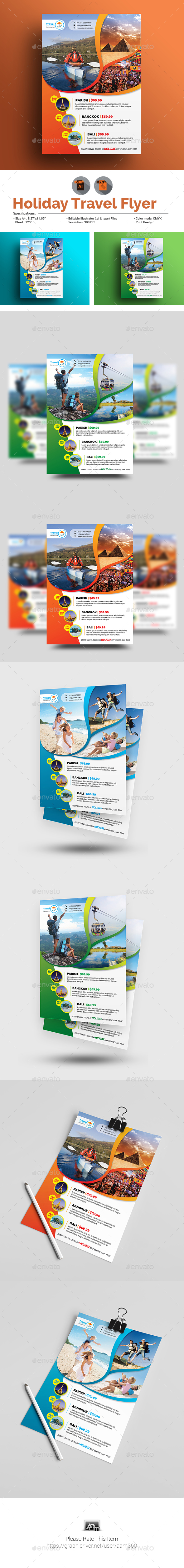 Holiday Travel Flyer - Events Flyers