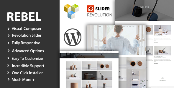 Rebel - Minimal Portfolio WordPress Theme - Portfolio Creative