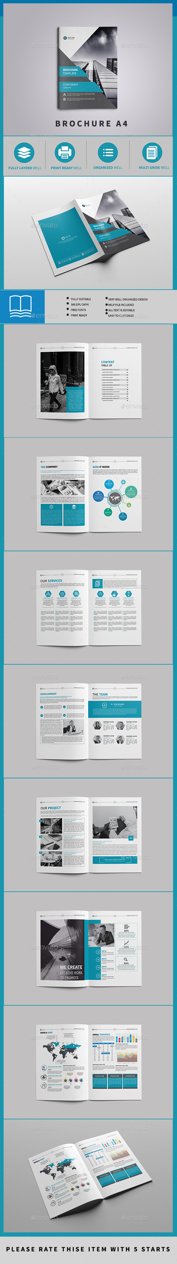 Corporate Brochure Template 16 Page - Brochures Print Templates