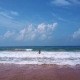 Woman Swimming in the Ocean, Backward Frame