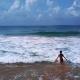 Woman in the Ocean, Backward Frame