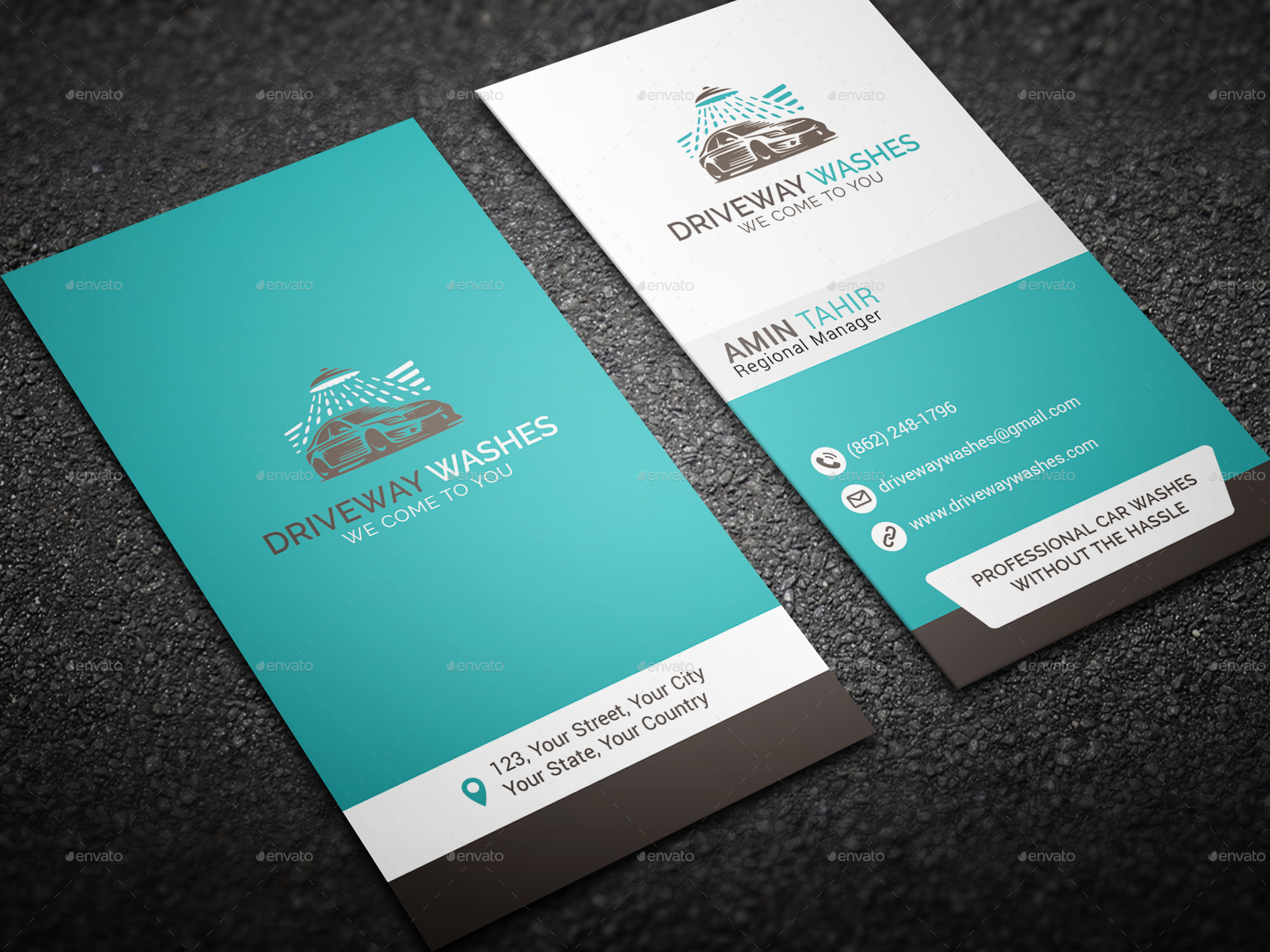 Clean Business Card by MH_Tushar | GraphicRiver