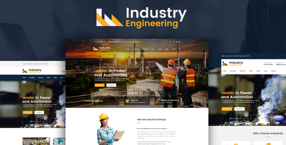 Industry Engineering – Industrial And Engineering HTML Template