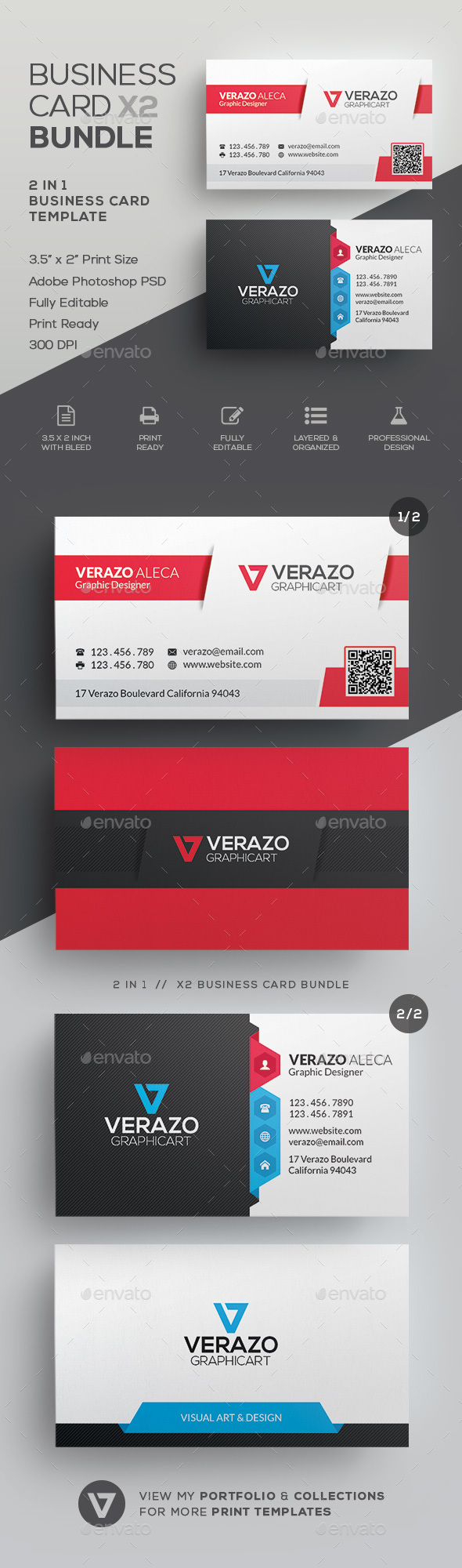 Business Card Bundle 34 - Corporate Business Cards