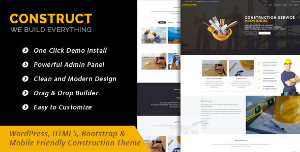 Construct – Construction Business WordPress Theme