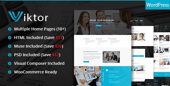 Viktor - Responsive Corporate WordPress Theme