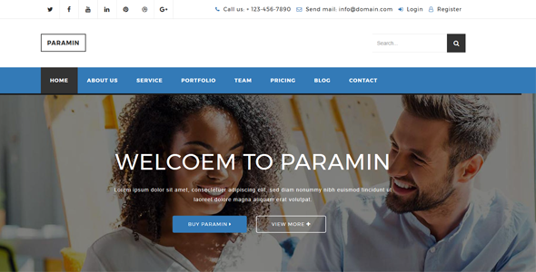 Paramin – Responsive Business Html5 Template