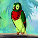 Colorful Parrot in a Jungle - VideoHive Item for Sale